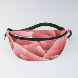 Light overlapping sheets of red paper triangles. Fanny Pack