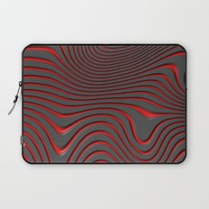 Organic Abstract 02 RED Laptop Sleeve