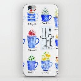 Poster tea menu iPhone Skin