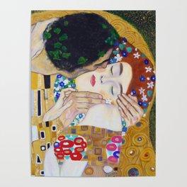 The Kiss by Kustav Klimt - Version by Nymphainna Poster