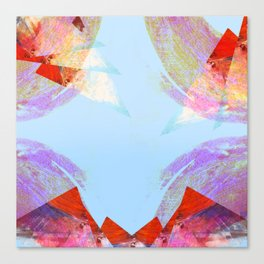 Triangles in red Canvas Print
