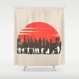 Zombie Control Shower Curtain