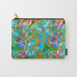 Floral Abstract Stained Glass G265 Carry-All Pouch