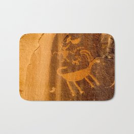Big Horn Sheep Petroglyph - Nine Mile Canyon - Utah Bath Mat