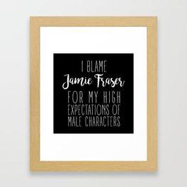 High Expectations - Jamie Fraser Black Framed Art Print