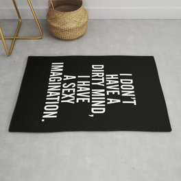 A Dirty Mind Funny Quote Rug