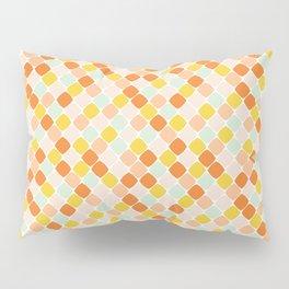 Geometric Squares in Orange Pillow Sham