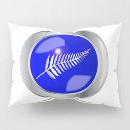 Silver Fern Button Pillow Sham