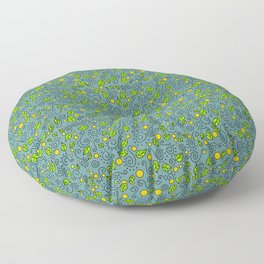 Curly Garden Floor Pillow