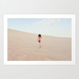 Carissima Hedy - Sandy Dune Nude Art Print