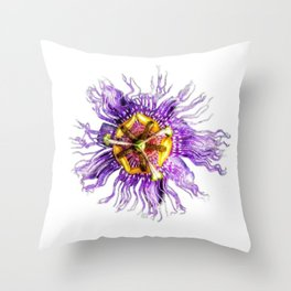 Passiflora incarnata Throw Pillow
