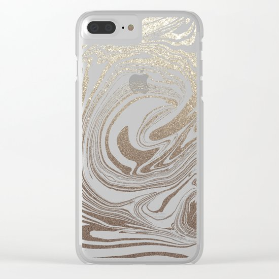 White Gold Sands Clear iPhone Case