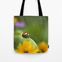 ladybug Tote Bags featuring Ladybug by Christina Rollo