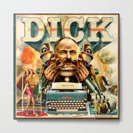 Portrait of Philip K. Dick Metal Print