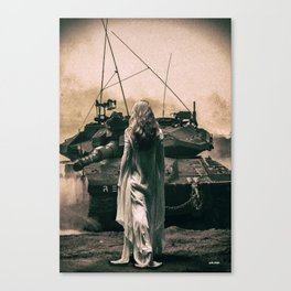 I Stand Alone , I'm not afraid Canvas Print