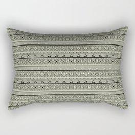Grey , brown , ethnic , ornament , tribal , ethnic Rectangular Pillow