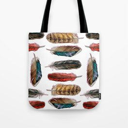 Country Feathers Tote Bag