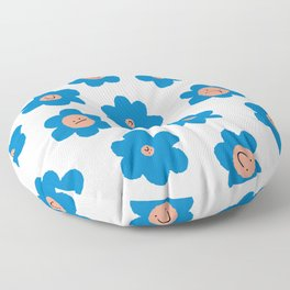 Daisy Flower Pattern Floor Pillow