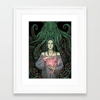 lovecraft Framed Art Prints featuring Lovecraft - 01 by ChiaraDi Francia