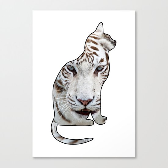 White cats. Canvas Print
