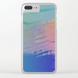 rock n rolling to the 80s Clear iPhone Case