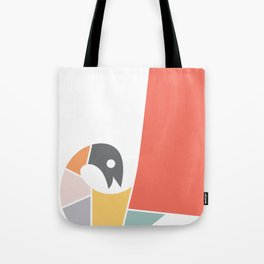 Minimal Peacock Tote Bag