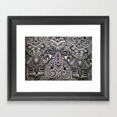 black and white print texture Framed Art Print