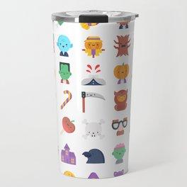CUTE HALLOWEEN COSTUME FALL PATTERN Travel Mug