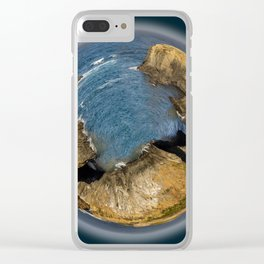 Tiny Planetary View of Mendocino Headlands in California Clear iPhone Case