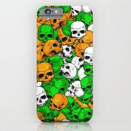 Irish skulls iPhone Case