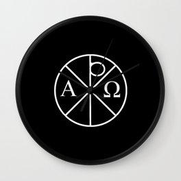 christogram 5 chrismon Wall Clock