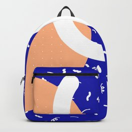 Peach + Blue Abstract Pattern Backpack