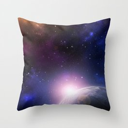 Colorful Journey In Space Throw Pillow