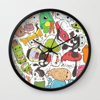 nori Wall Clocks featuring Sushi Bar: Point of Nori-turn by ieIndigoEast