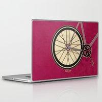 brompton Laptop & iPad Skins featuring Single Speed Bicycle by Wyatt Design