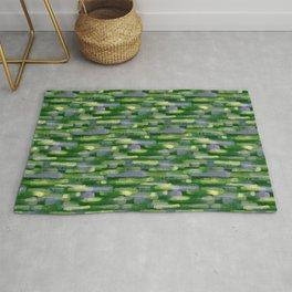 Brushstrokes in Green Rug