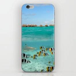 Diving with sharks on Bora Bora iPhone Skin