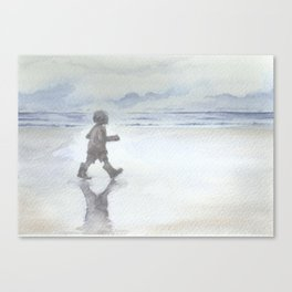 Welly Walk by the Sea Canvas Print