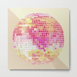 Disco Ball – Pink Ombré Metal Print