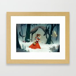 red hood Framed Art Print