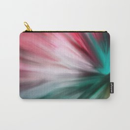 Modern teal pink white watercolor brushstrokes Carry-All Pouch