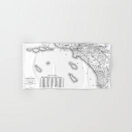 Southern California Map Hand & Bath Towel