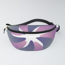 Purple ombre flower spiral Fanny Pack