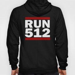512 Design Run Texas Area Code Design Texas Running Gifts Hoody