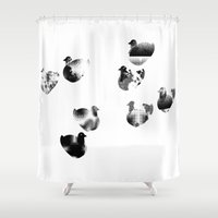 ducks Shower Curtains featuring ducks by aanbellen
