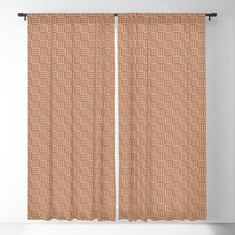 Cavern Clay SW 7701 and Ligonier Tan SW 7717 Grid Tessellation Stripe Lines Weave Pattern Blackout Curtain