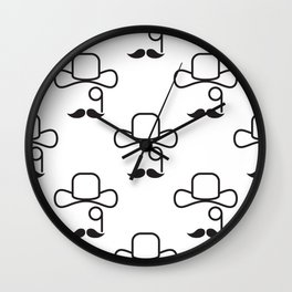 Classical hat with pince-nez Wall Clock