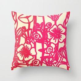 electric flower Throw Pillow