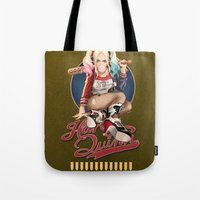 harley quinn Tote Bags featuring Harley Quinn by Reducto
