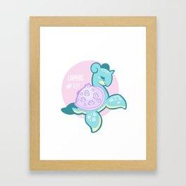 Lapras14 Framed Art Print